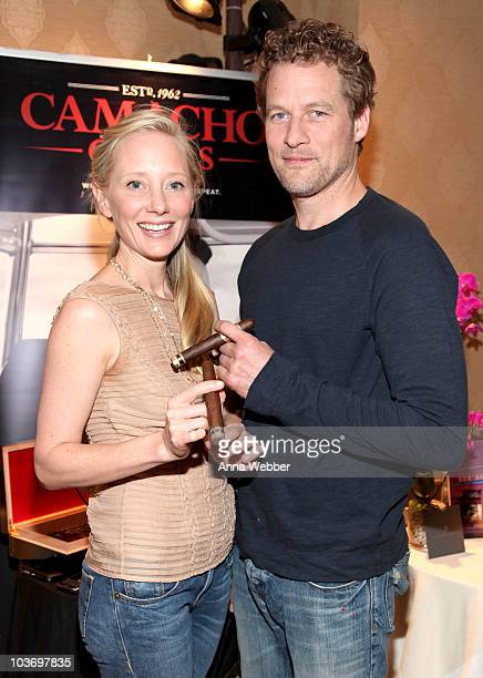 Actors Anne Heche and James Tupper attend the HBO Luxury Lounge in honor of the 62nd Primetime Emmy Awards held at The Four Seasons Hotel on August...