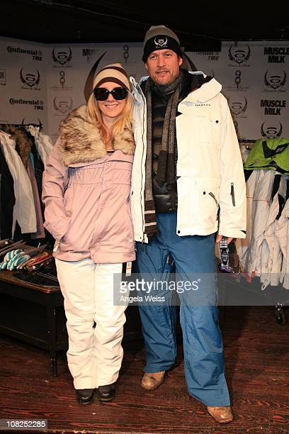 Actors Anne Heche and James Tupper attend the Oakley Learn to Ride Fueled by Muscle Milk and Lounge on January 22 2011 in Park City Utah