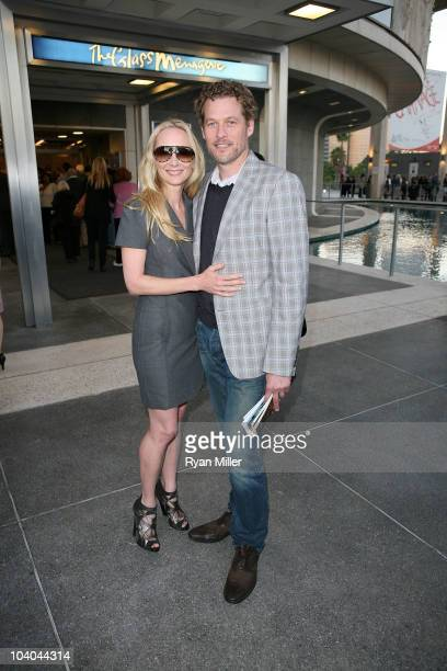 Actors Anne Heche and James Tupper pose during the arrivals for the opening night performance of The Glass Menagerie by Tennessee Williams at the...