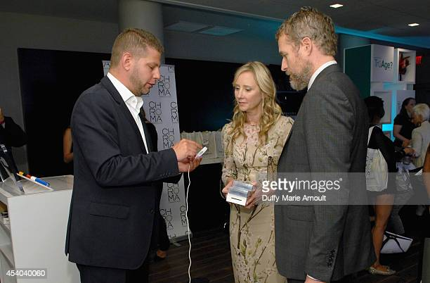 Actors Anne Heche and James Tupper with Innergie at Kari Feinstein's Style Lounge presented by Paragon at Andaz West Hollywood on August 23 2014 in...