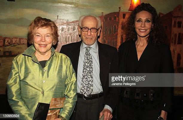 Actors Anne Jackson, Eli Wallach and Marisa Berenson attend the Kickoff Cocktail Reception for the 2008 Fred & Adele Astaire Awards at Elaine's on...