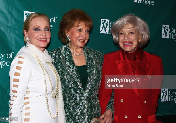 Actors Anne Jeffreys Rhonda Fleming and Carol Channing attend the City of Hope's National Convention closing night gala on July 19 2004 at the...
