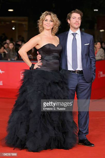 Actors Anne Louise Hassing and Ramsey Nasr attend the 'Goltzius And The Pelican Company' Premiere during the 7th Rome Film Festival at the Auditorium...