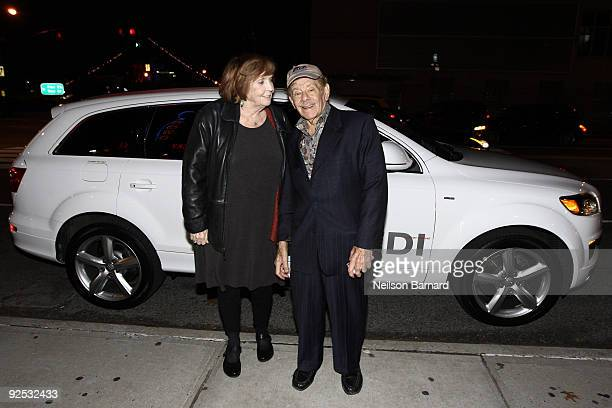 Actors Anne Meara and Jerry Stiller arrive in the Audi Q7 TDI clean diesel to the Project ALS Benefit at Lucky Strike Lanes Lounge on October 29 2009...