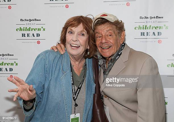 Actors Anne Meara and Jerry Stiller attend the 3rd Annual New York Times Great Children's Read at Columbia University on October 4 2009 in New York...