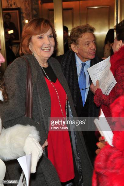 Actors Anne Meara and Jerry Stiller attend the Broadway opening night of Race at The Ethel Barrymore Theatre on December 6 2009 in New York City