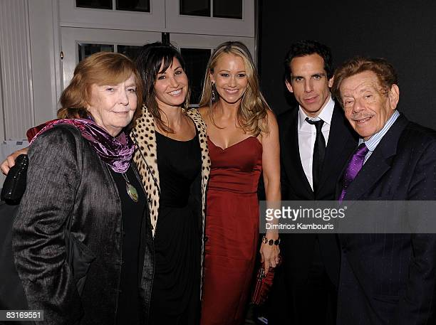 Actors Anne Meara Gina Gershon Christine Taylor Ben Stiller and Jerry Stiller attend the Project ALS 11th Annual Tomorrow is Tonight Benefit Gala at...