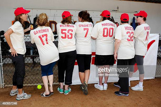 Actors Anne Ramsay Bitty Schram Patti Pelton Tracy Reiner Penny Marshal Megan Cavanagh and Ann Cusack attends 'A League Of Their Own' Reunion...