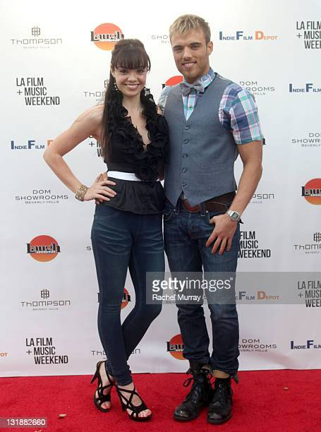 Actors Annemarie Pazmino and Drew Gallagher attend 'Skyler' Premiere at Laemmle Music Hall during the 2011 LA Film and Music Weekend Festival on...