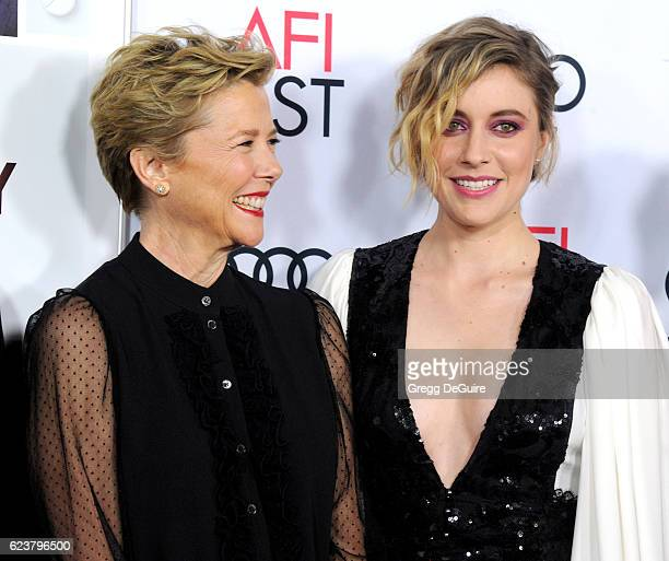 Actors Annette Bening and Greta Gerwig arrive at the AFI FEST 2016 Presented By Audi A Tribute To Annette Bening And Gala Screening Of A24's 20th...