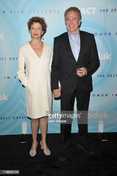 Actors Annette Bening and Warren Beatty arrive at the 2011 Women In Film Crystal Lucy Awards with presenting sponsor PANDORA jewelry at the Beverly...