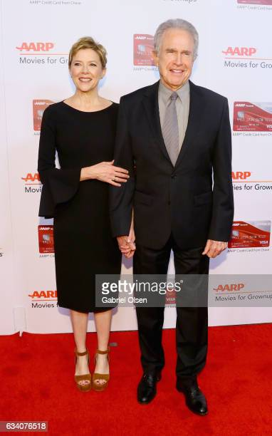 Actors Annette Bening and Warren Beatty attend the 16th Annual AARP The Magazine's Movies For Grownups Awards at the Beverly Wilshire Four Seasons...