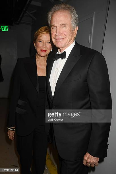 Actors Annette Bening and Warren Beatty attend The 22nd Annual Critics' Choice Awards at Barker Hangar on December 11 2016 in Santa Monica California