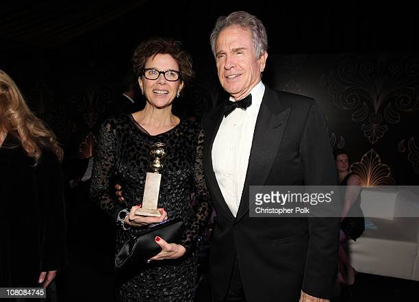 Actors Annette Bening and Warren Beatty attend the NBCUniversal/Focus Features Golden Globes Viewing and After Party sponsored by Chrysler held at...
