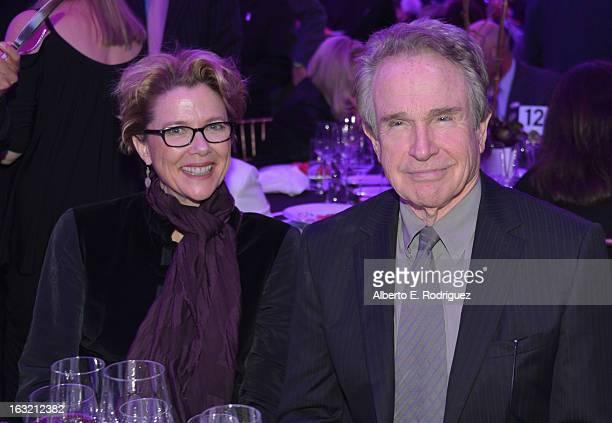 Actors Annette Bening and Warren Beatty attend the UCLA Institute Of The Environment And Sustainability's 2nd Annual Evening Of Environmental...