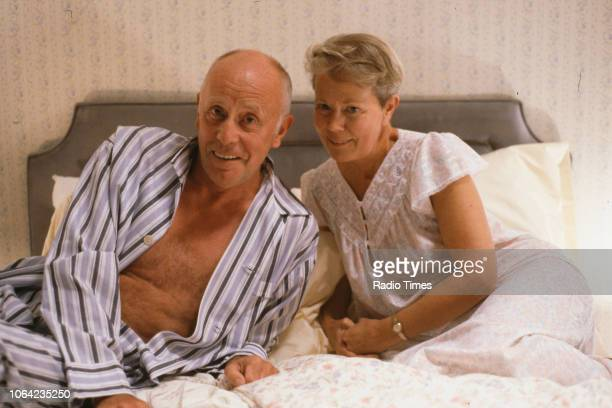 Actors Annette Crosbie and Richard Wilson in a bedroom scene from episode 'Who Will Buy' of the BBC Television sitcom 'One Foot in the Grave' 1990