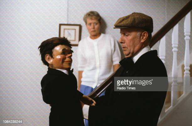 Actors Annette Crosbie and Richard Wilson in a scene from episode 'Who Will Buy' of the BBC Television sitcom 'One Foot in the Grave' 1990