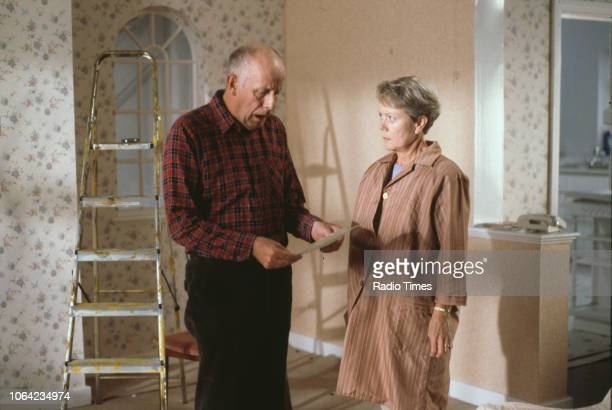 Actors Annette Crosbie and Richard Wilson in a scene from the BBC Television sitcom 'One Foot in the Grave' circa 1995