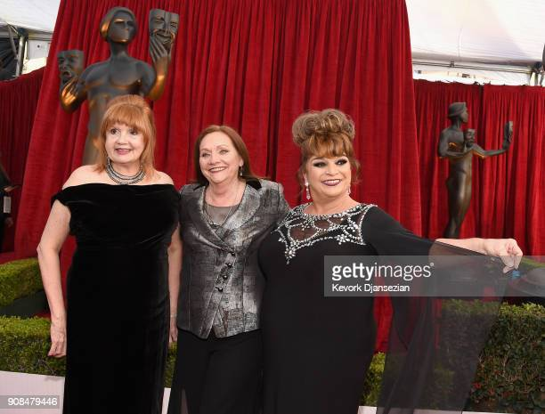 Actors Annie Golden Dale Soules and Lin Tucci attend the 24th Annual Screen ActorsGuild Awards at The Shrine Auditorium on January 21 2018 in Los...
