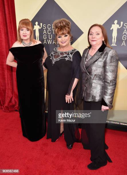 Actors Annie Golden Lin Tucci and Dale Soules attend the 24th Annual Screen Actors Guild Awards at The Shrine Auditorium on January 21 2018 in Los...