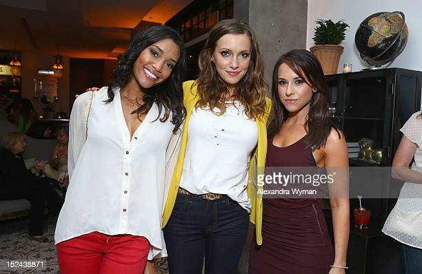 Actors Annie Ilonzeh Katie Cassidy and Lacey Chabert attend People StyleWatch Hollywood Denim Party at Palihouse on September 20 2012 in Santa Monica...