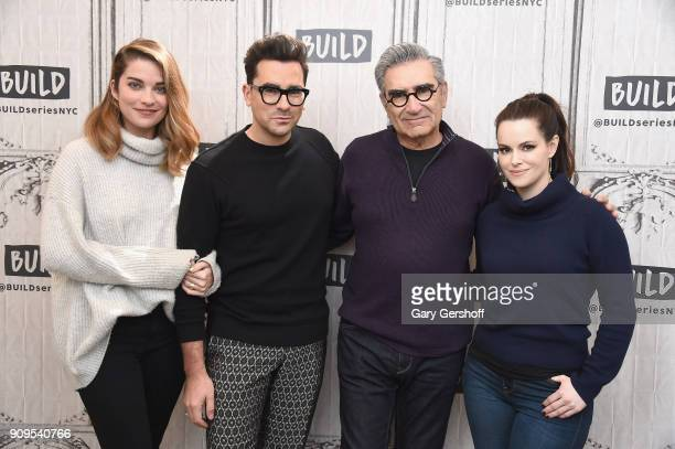 Actors Annie Murphy Daniel Levy Eugene Levy and Emily Hampshire visit Build Series to discuss the sitcom Schitt's Creek at Build Studio on January 23...