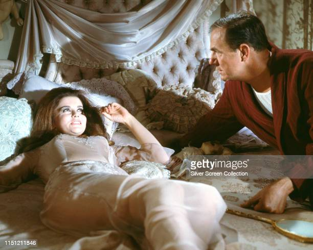 Actors AnnMargret and Karl Malden as Shooter and his wife Melba in a scene from the film 'The Cincinnati Kid' 1965