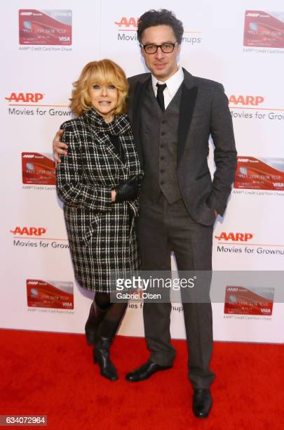 Actors AnnMargret and Zach Braff attend the 16th Annual AARP The Magazine's Movies For Grownups Awards at the Beverly Wilshire Four Seasons Hotel on...