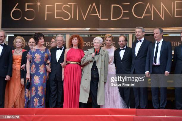 Actors Anny Duperey Pierre Arditi Sabine Azema director Alain Resnais and actors Anne Consigny Denis Podalydes Lambert Wilson and Hippolyte Girardot...