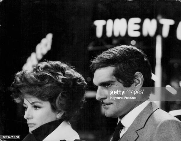 Actors Anouk Aimee and Omar Sharif in a scene from the film 'The Appointment' 1969