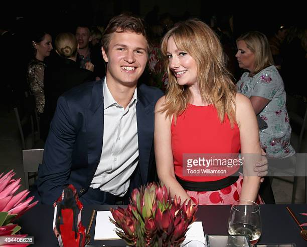 Actors Ansel Elgort and Judy Greer attend the InStyle Awards at Getty Center on October 26 2015 in Los Angeles California