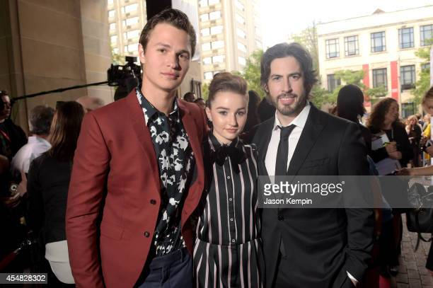 Actors Ansel Elgort Kaitlyn Dever and Director/CoWriter/Producer Jason Reitman attend the Gala Screening of Paramount Pictures' MEN WOMEN CHILDREN...