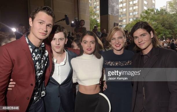 Actors Ansel Elgort, Travis Tope, Katherine C. Hughes, Producer Helen Estabrook and actor Will Peltz attend the Gala Screening of Paramount Pictures'...