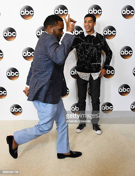 Actors Anthony Anderson and Marcus Scribner attend the Disney ABC Television Group TCA Summer Press Tour on August 4, 2016 in Beverly Hills,...