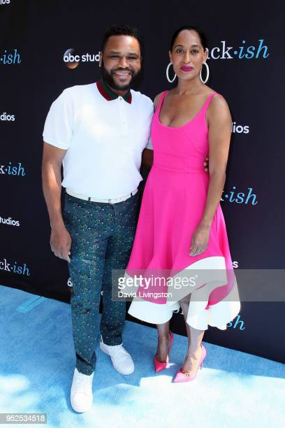 Actors Anthony Anderson and Tracee Ellis Ross attend the FYC event for ABC's Blackish at Walt Disney Studios on April 28 2018 in Burbank California
