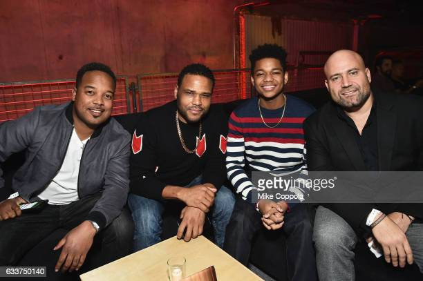 Actors Anthony Anderson Nathan Anderson and guests attend the 13th Annual ESPN The Party on February 3 2017 in Houston Texas