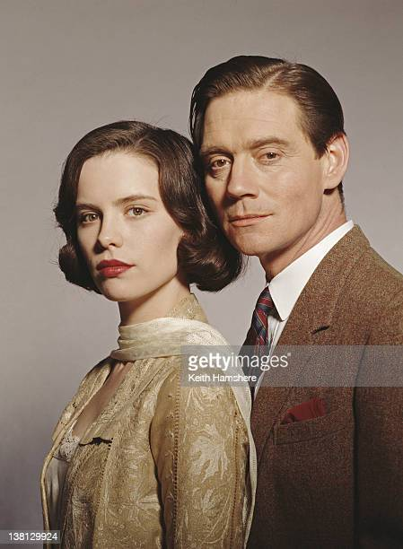 Actors Anthony Andrews and Kate Beckinsale in a publicity still for the film 'Haunted' 1995