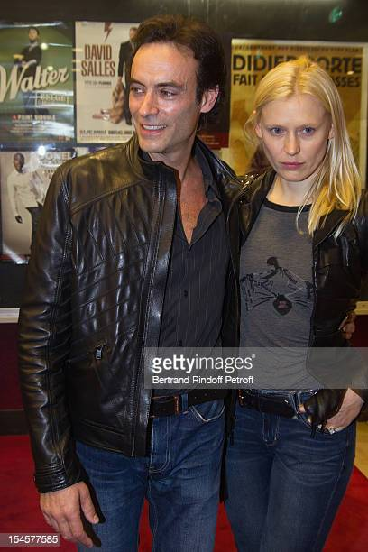 Actors Anthony Delon and Anna Sherbinina at Theatre du Grand PointVirgule on October 22 2012 in Paris France
