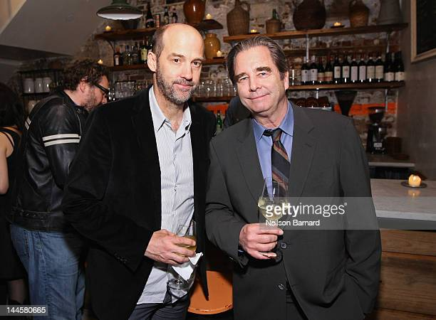 Actors Anthony Edwards and Beau Bridges attend Creative Artists Agency's Upfront Party at Il Buco Alimentari Vineria on May 15 2012 in New York City