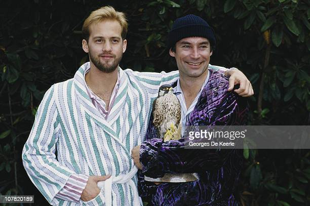 Actors Anthony Edwards and Timothy Dalton star in the film 'Hawks', 1988.