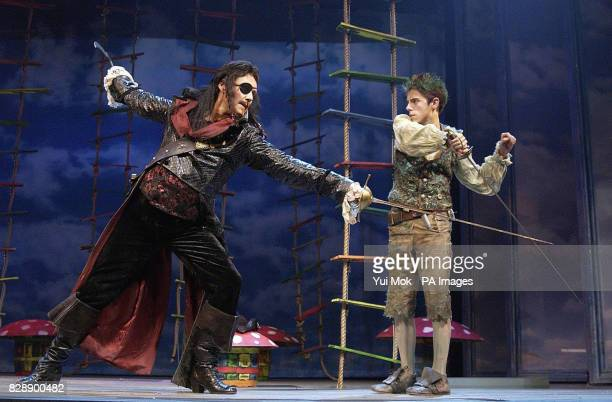 Actors Anthony Head and Jack Blumenau during a photocall for Peter Pan at the Savoy Theatre in central London Anthony stars as Captain Hook in the...