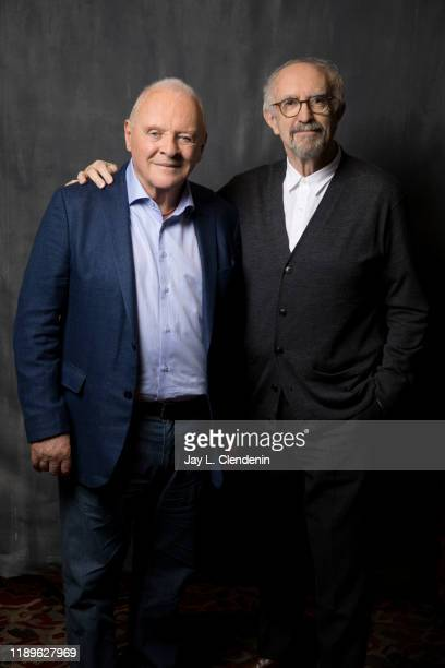 Actors Anthony Hopkins and Jonathan Pryce are photographed for Los Angeles Times on November 18 2019 in Los Angeles California PUBLISHED IMAGE CREDIT...