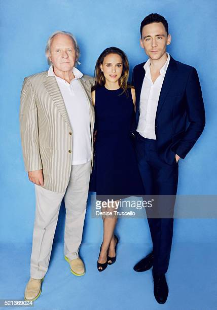 Actors Anthony Hopkins Natalie Portman and Tom Hiddleston pose for a portrait at the 2013 D23 Expo on August 6 2013 in Las Vegas Nevada
