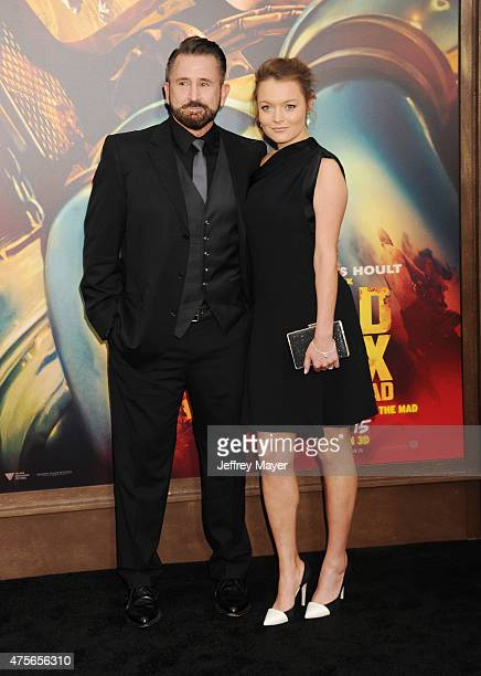 Actors Anthony LaPaglia and Alexandra Henkel arrive at the Mad Max Fury Road Los Angeles Premiere at TCL Chinese Theatre IMAX on May 7 2015 in...