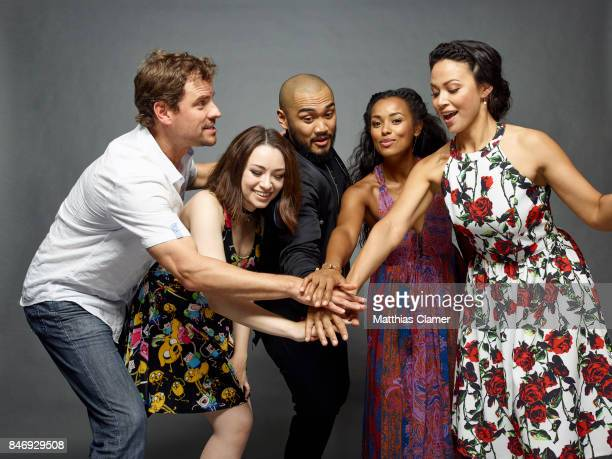 Actors Anthony Lemke Jodelle Ferland Alex Mallari Jr Melanie Liburd and Melissa ONeil from 'Dark Matter' are photographed for Entertainment Weekly...