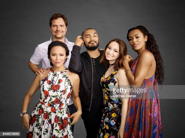 Actors Anthony Lemke, Melissa ONeil, Alex Mallari Jr., Jodelle Ferland and Melanie Liburd from 'Dark Matter' are photographed for Entertainment...