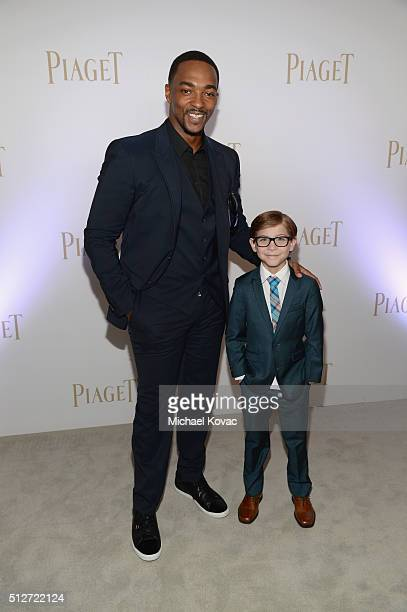 Actors Anthony Mackie and Jacob Tremblay attend the 2016 Film Independent Spirit Awards sponsored by Piaget on February 27 2016 in Santa Monica...