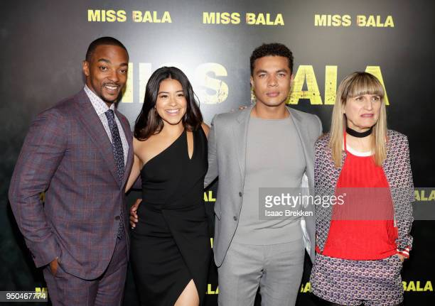 Actors Anthony Mackie Gina Rodriguez Ismael Cruz Cordova and Director Catherine Hardwicke attend the CinemaCon 2018 Gala Opening Night Event Sony...