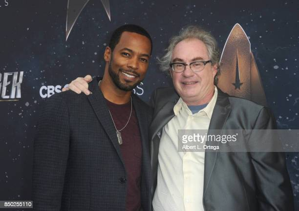 Actors Anthony Montgomery and John Billingsley arrive for the Premiere Of CBS's 'Star Trek Discovery' held at The Cinerama Dome on September 19 2017...