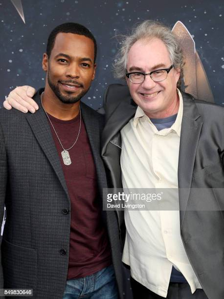Actors Anthony Montgomery and John Billingsley attend the premiere of CBS's 'Star Trek Discovery' at The Cinerama Dome on September 19 2017 in Los...